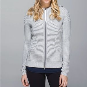 Lululemon Embrace Grey Sweater Hoodie Knit
